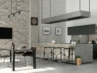 brushed-steel-industrial-kitchen-and-dining-room