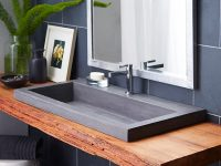charcoal-grey-bathroom-sink-modern-rustic-rectangular-drop-in-sink