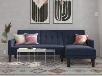 cheap-small-sectional-sleeper-sofa-modern-design-blue-upholstery