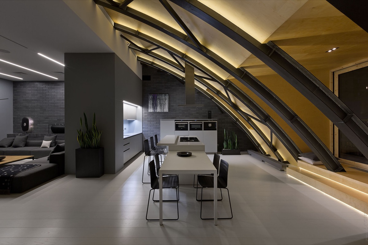curved-iron-ceiling-frame-architectural-dining-area-1