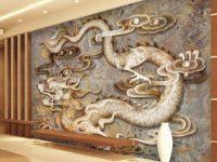 Custom 3D Wallpaper Carved Dragon Marble Wall Mural Chinese Style Photo Wallpaper Bedroom Living Room Restaurant Hotel Modern Art Room Decor inside Awesome Chinese Living Room Decor