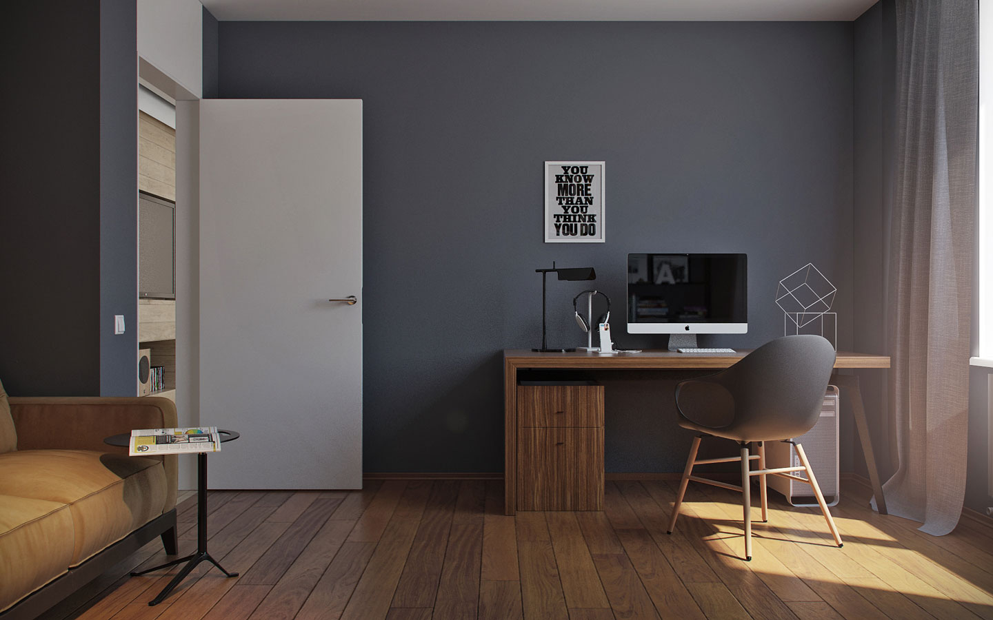 dark-gray-home-office-design