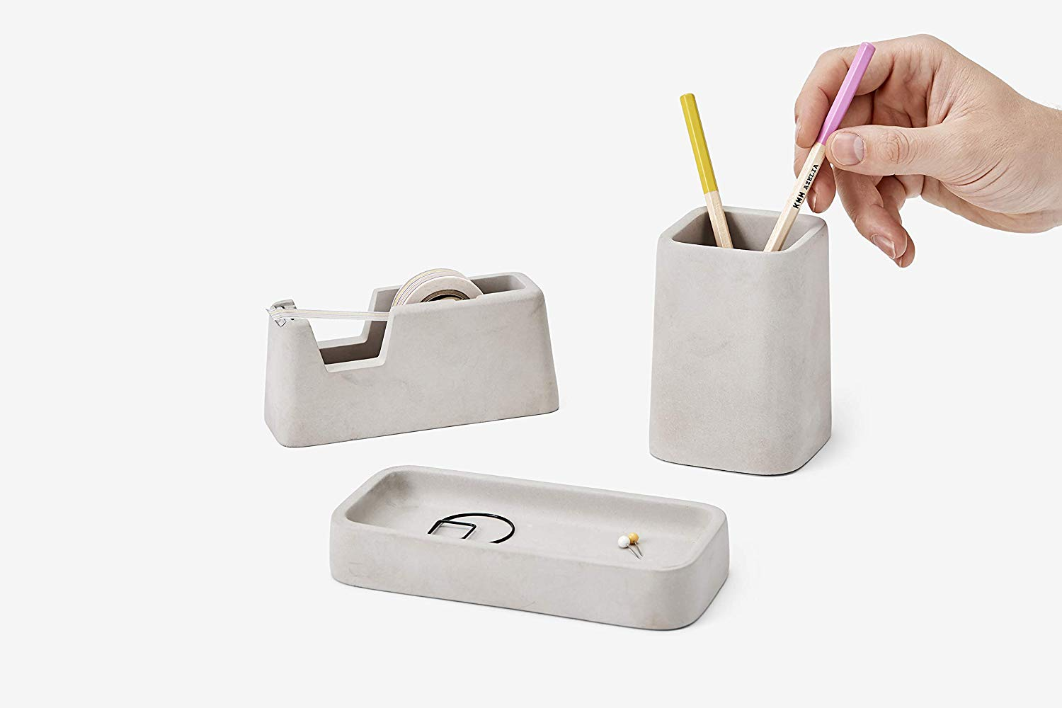 gifts-for-an-architect-for-his-office-concrete-organizer-set