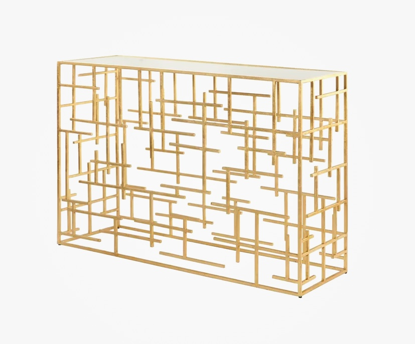 gold-console-table-with-sculptural-cross-hatch-artistic-base-luxury-statement-piece