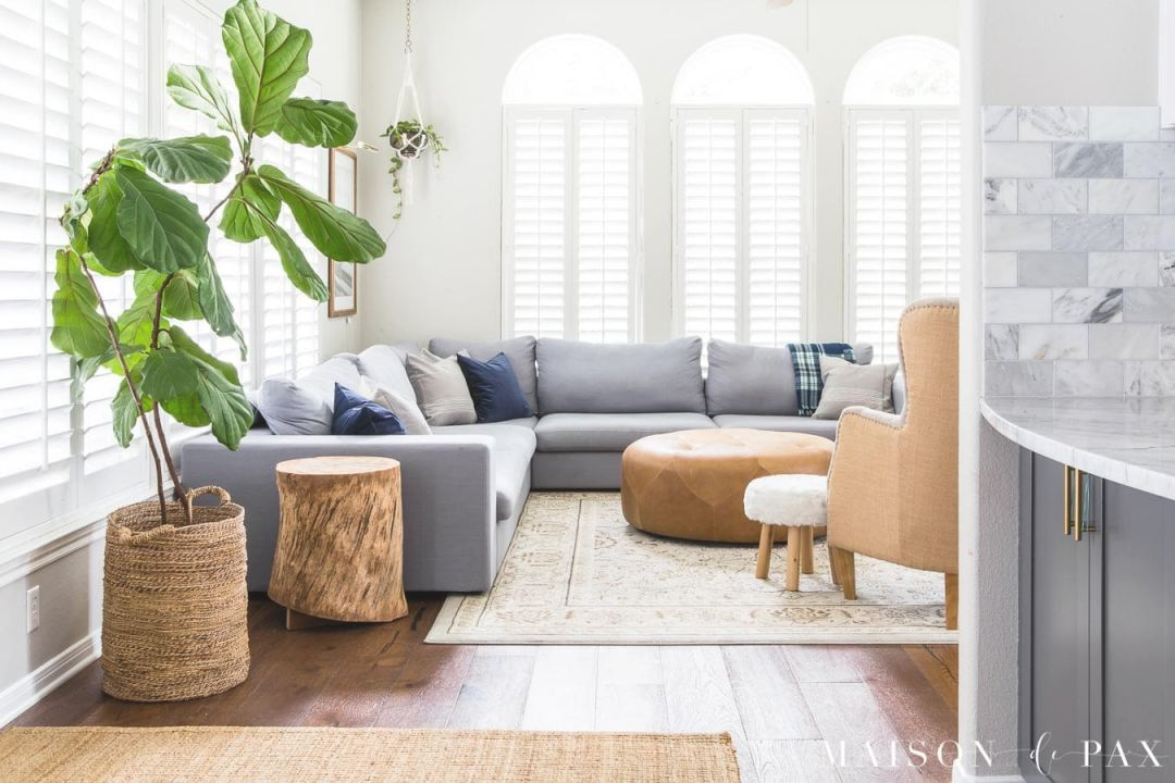 Gray Living Room With Simple Fall Decor - Maison De Pax with regard to Awesome Sample Living Room Decor