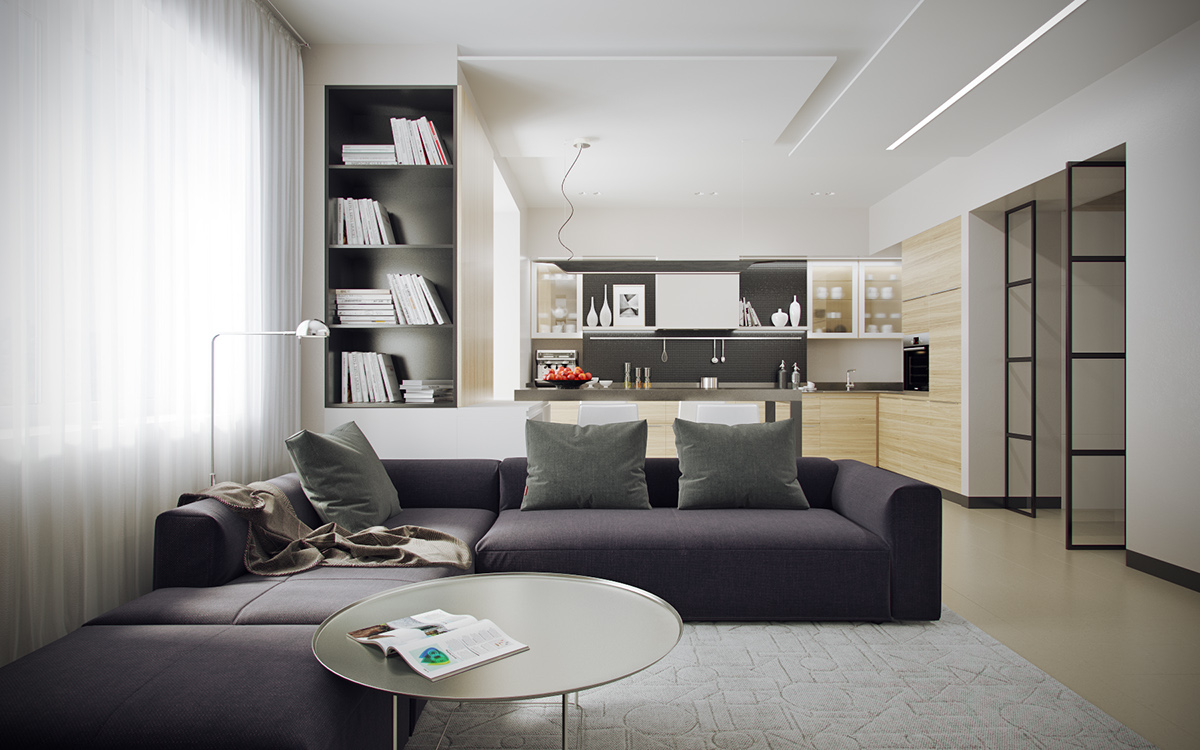 grayscale-and-wood-open-apartment-layout