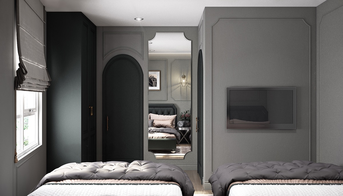 grey-and-black-bedroom