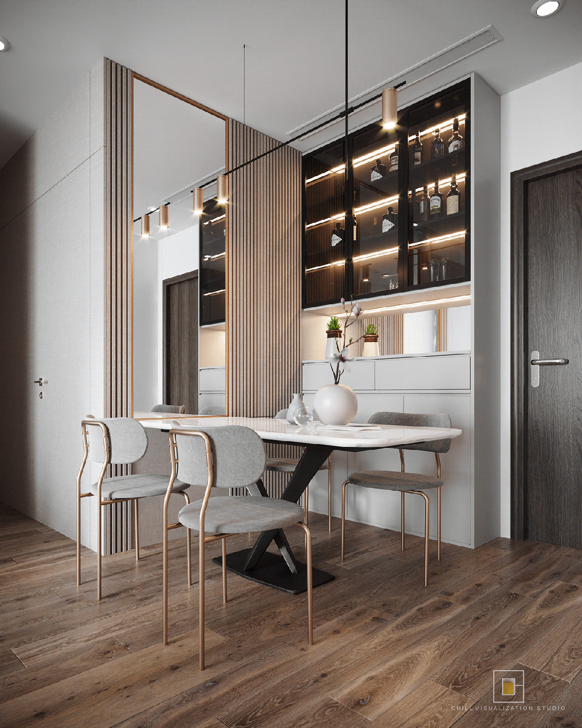 grey-and-copper-dining-chairs