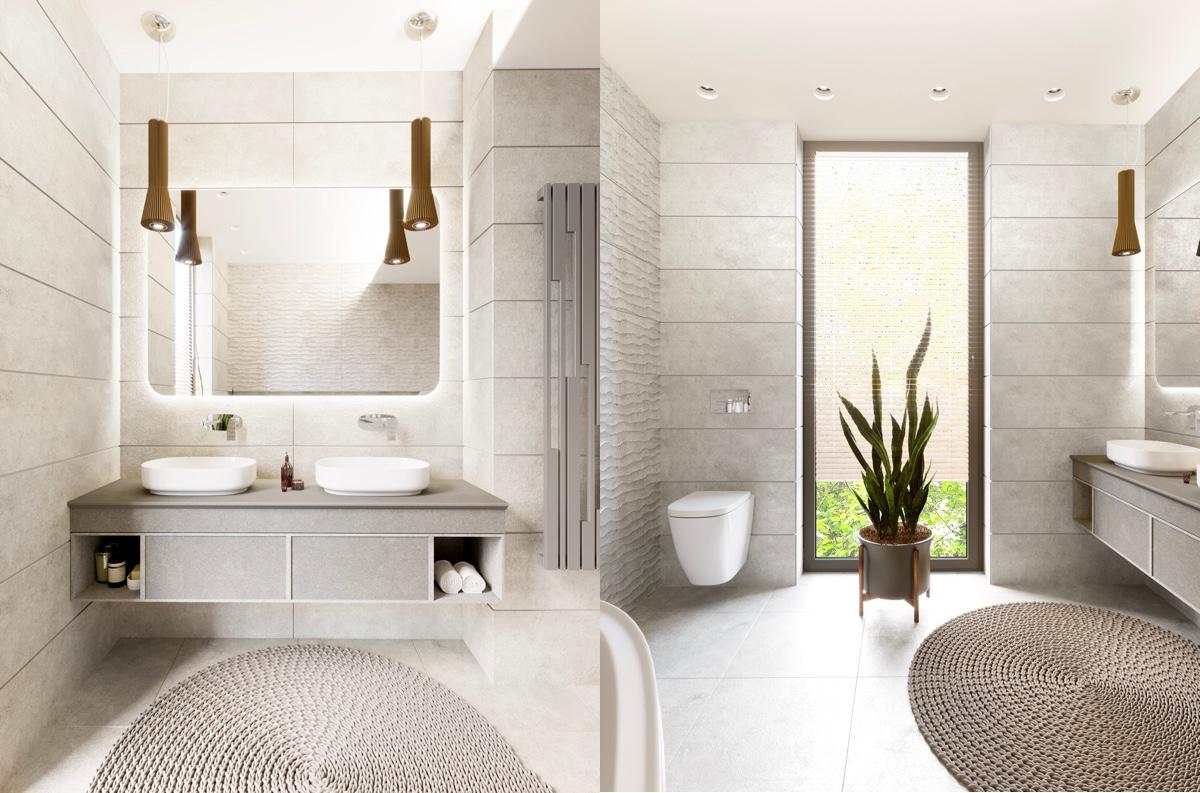 grey-and-white-bathroom-rug