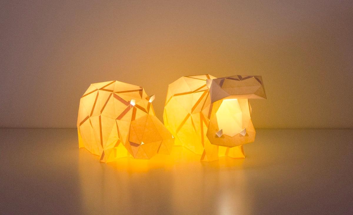 hippopotamus-lamps