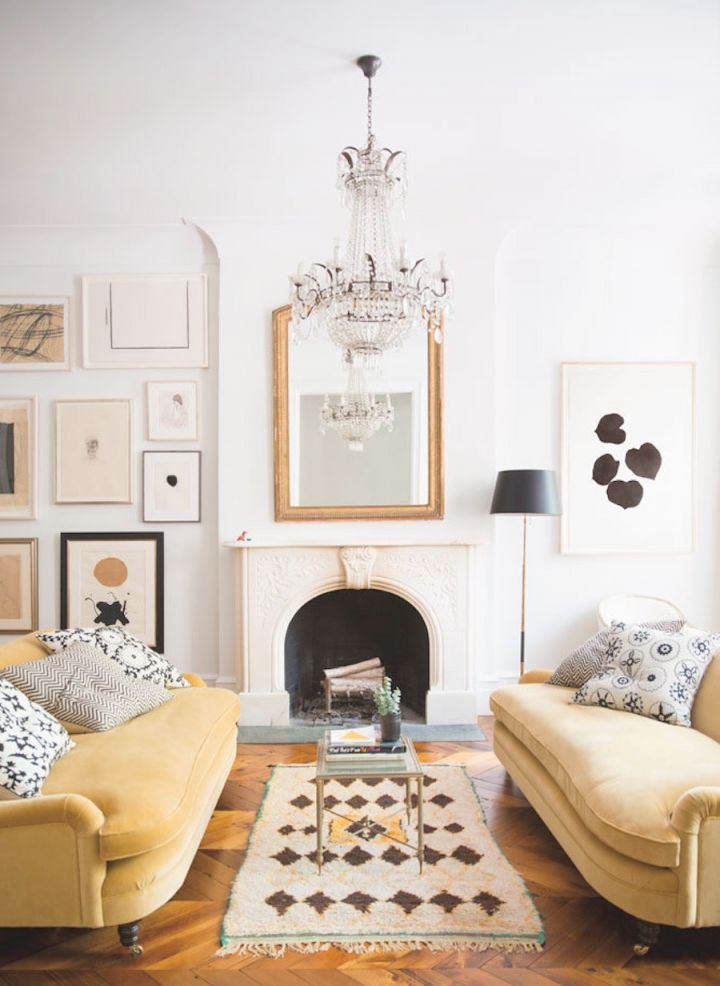 Home Decorating Trends 2019 – Mustard Yellow! | Decorated Life throughout Yellow Walls Living Room Interior Decor