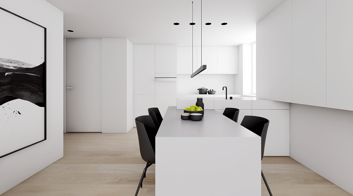 horizontal-pendant-light-black-and-white-eating-area-1