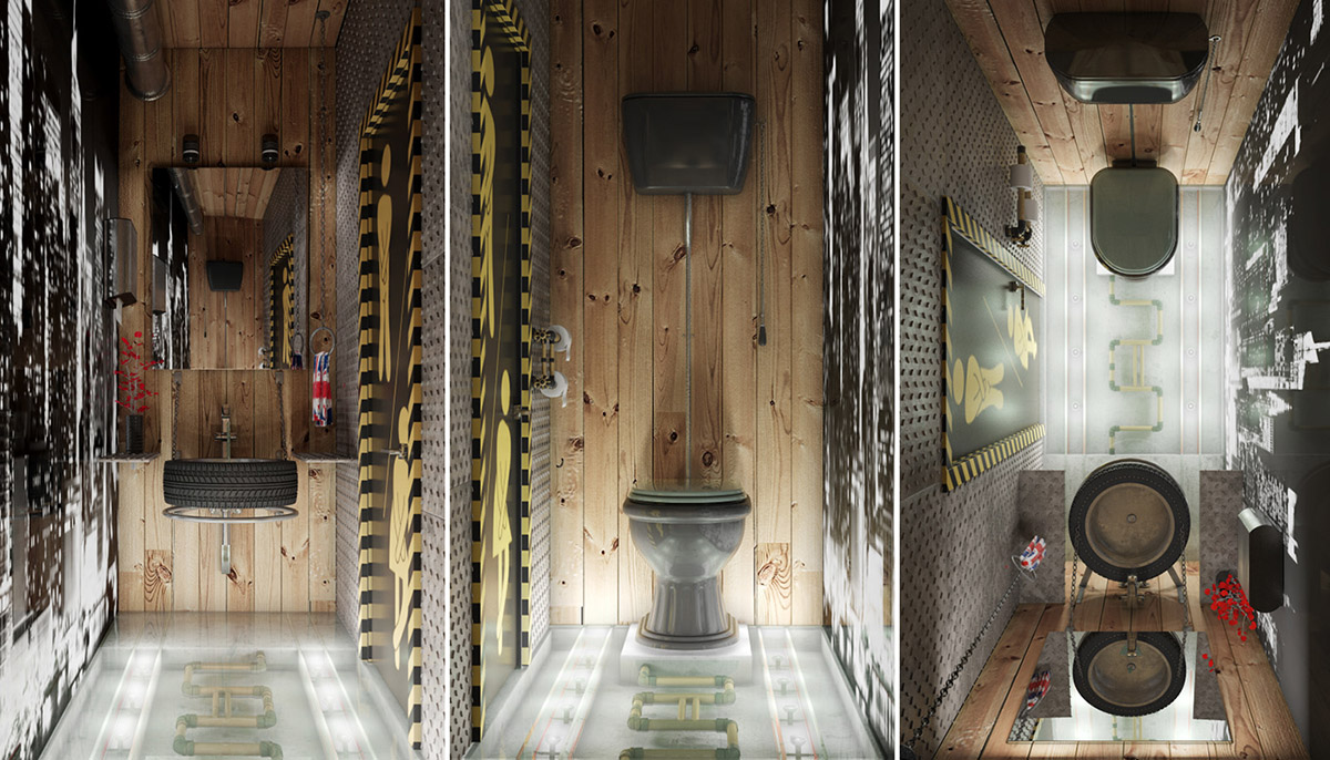 Industrial Style Bathrooms