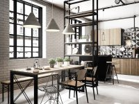 industrial-dining-room-pendant-lights