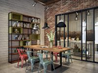 industrial-style-dining-table-and-chairs