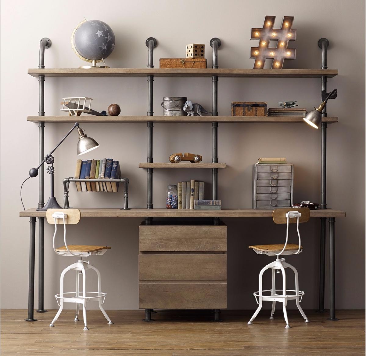 industrial-style-double-desk