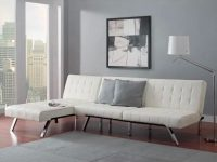 inexpensive-white-faux-leather-sectional-sleeper-sofa