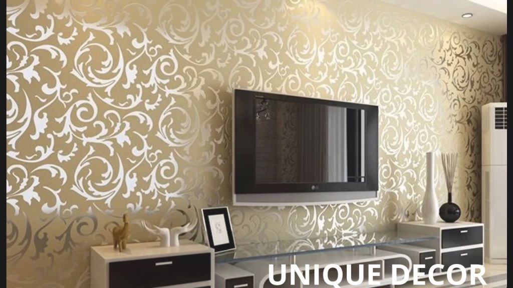 Latest Wallpaper Designs Please Call For Detail-8860100998 throughout Wallpaper Decoration For Living Room