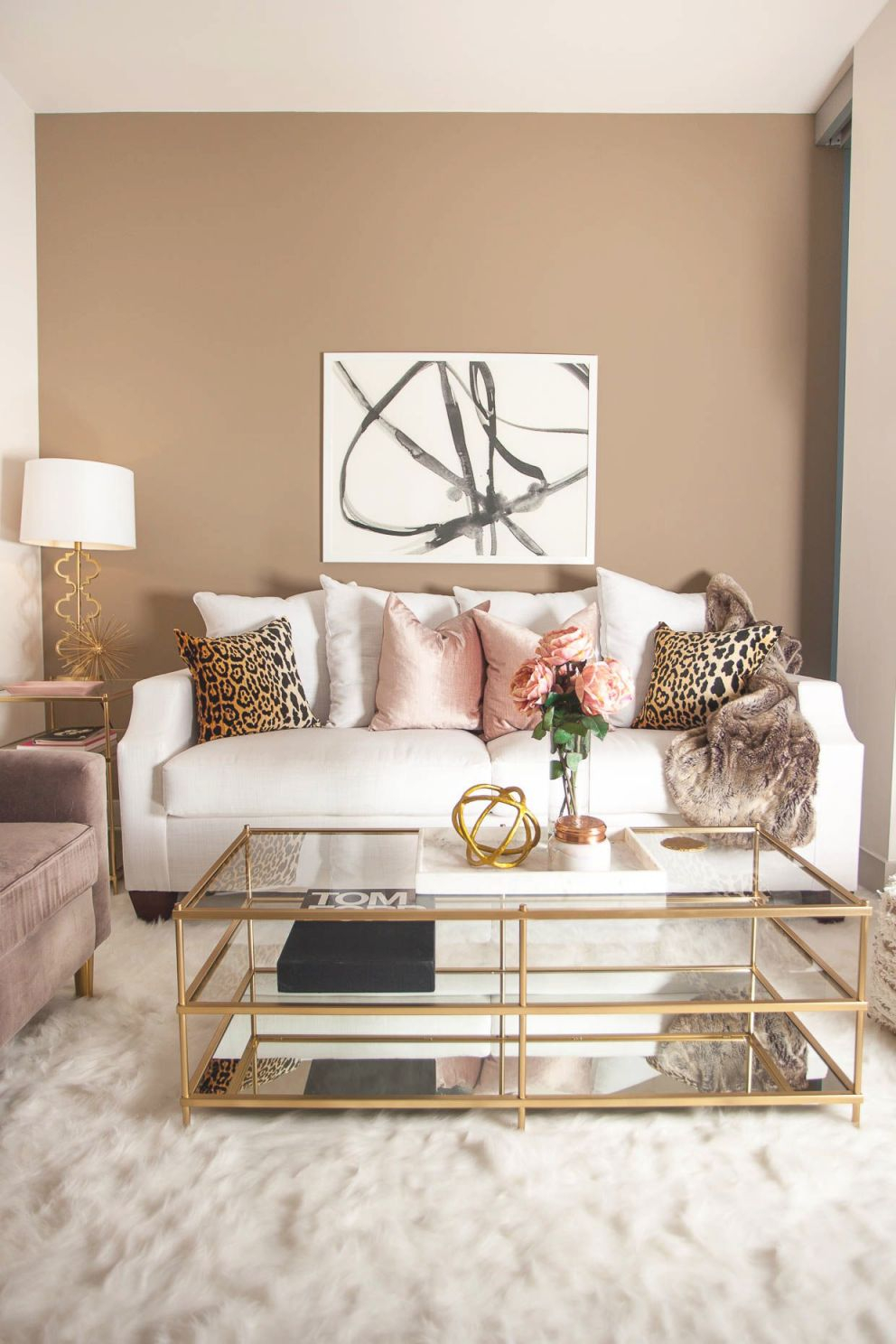 Le Living Room With Laurel & Wolf | Glam Living Room, Home within Awesome Sample Living Room Decor