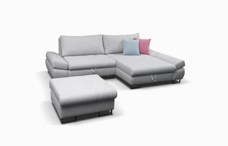 Small Sectional Sofa Sleeper In White