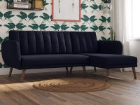 luxurious-blue-sectional-sleeper-sofa-mid-century-modern-style