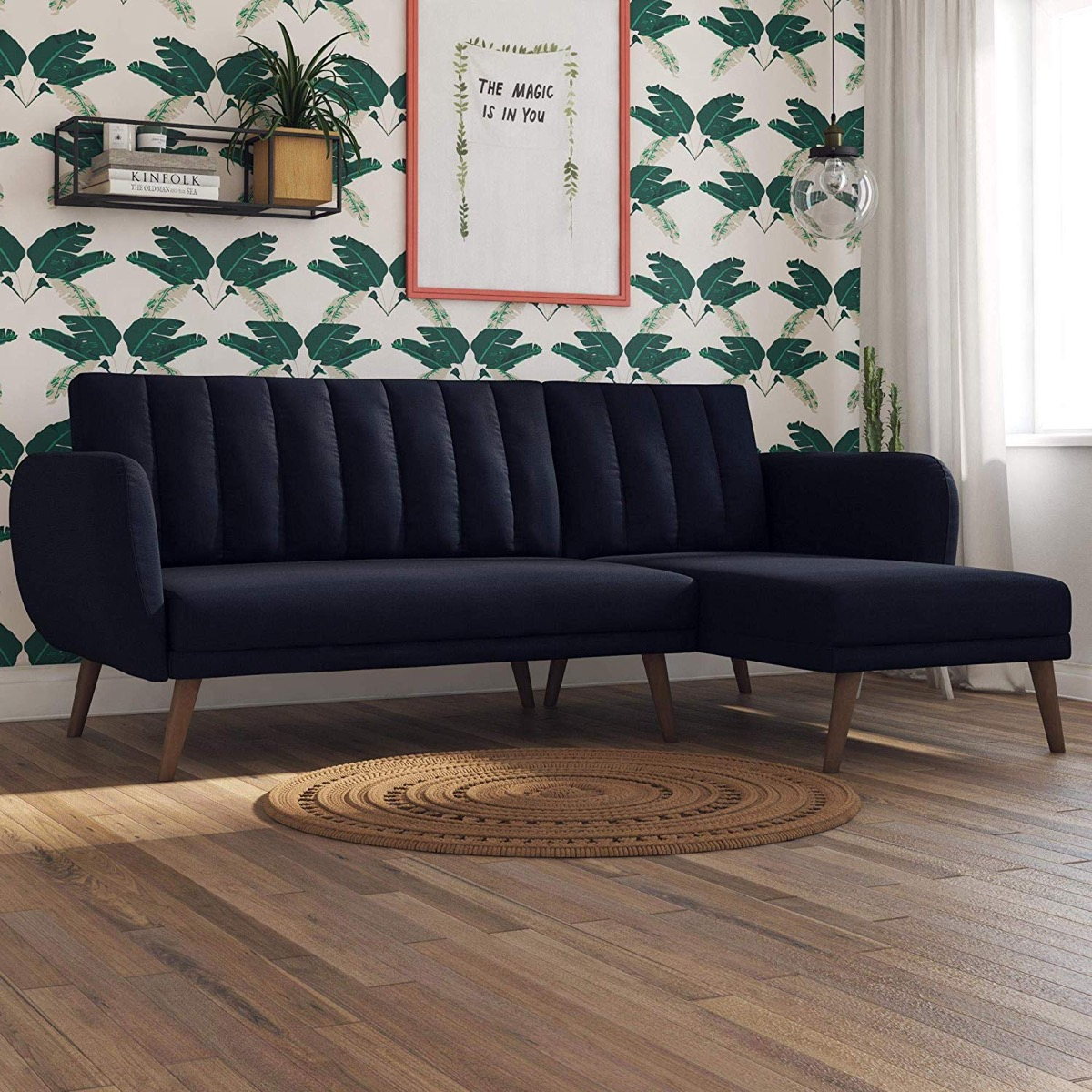 Luxurious Blue Sectional Sleeper Sofa Mid Century Modern Style Awesome Decors