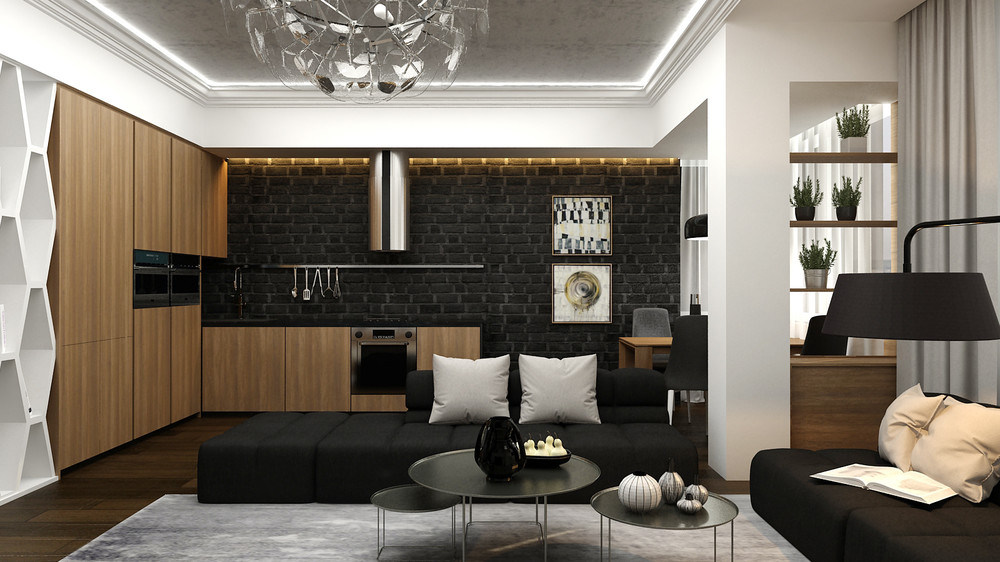 matte-black-brick-kitchen