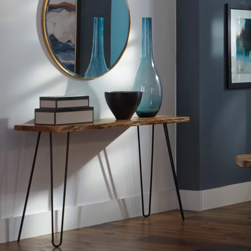 mid-century-modern-console-table-with-live-edge-wood-top-and-black-hairpin-legs