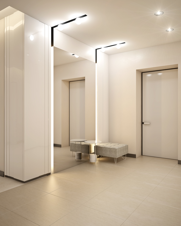minimalist-mirrored-entryway