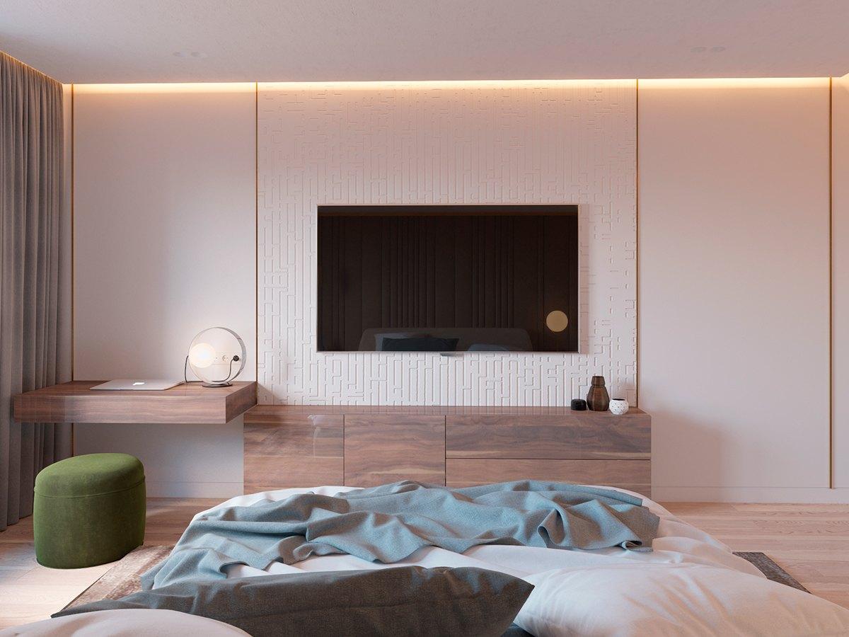 minimalist-textural-accent-wall