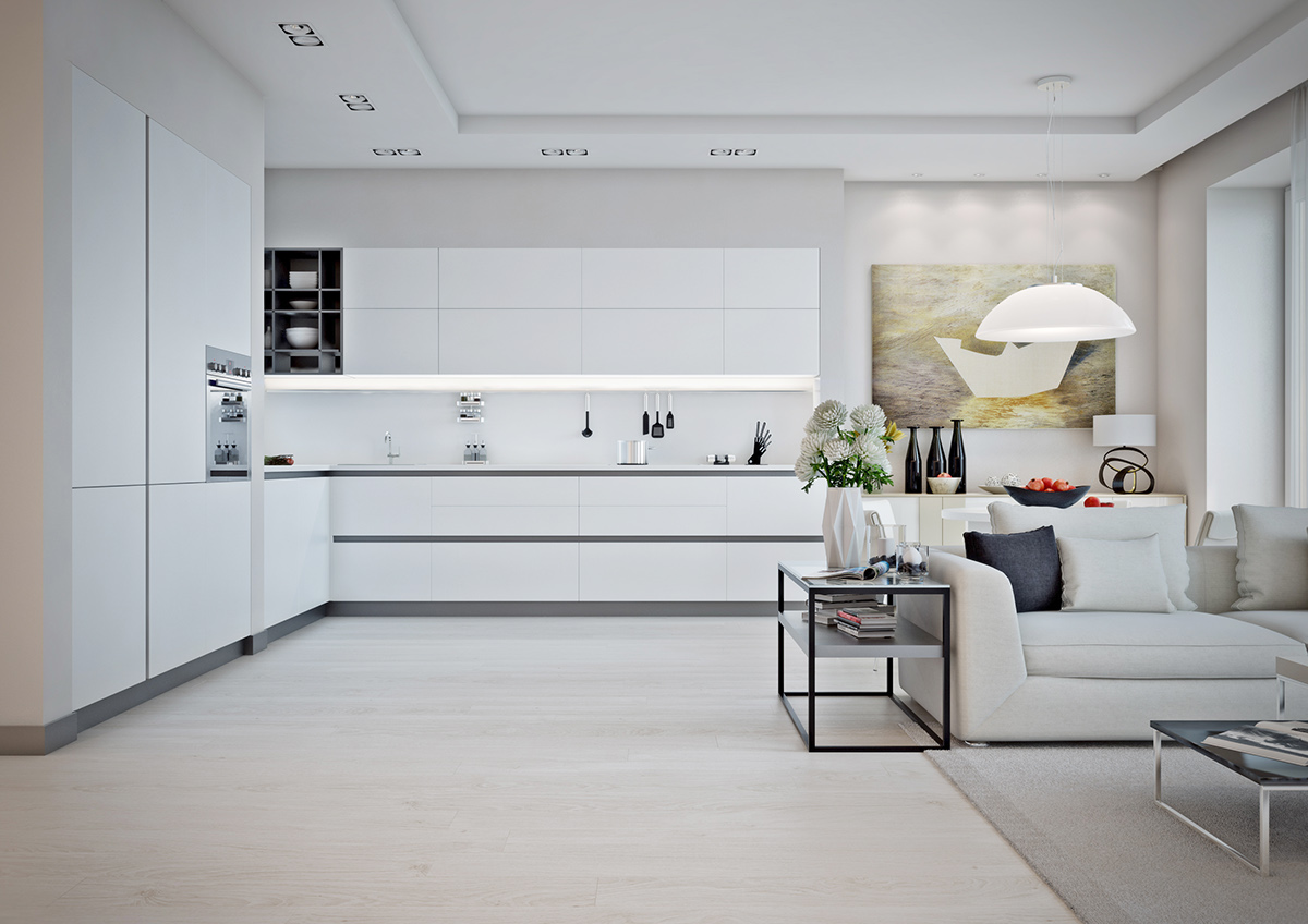 minimalist-white-and-gray-kitchen