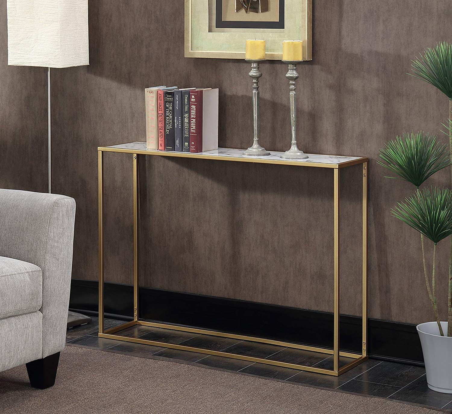 narrow-console-table-with-faux-marble-top-and-gold-base