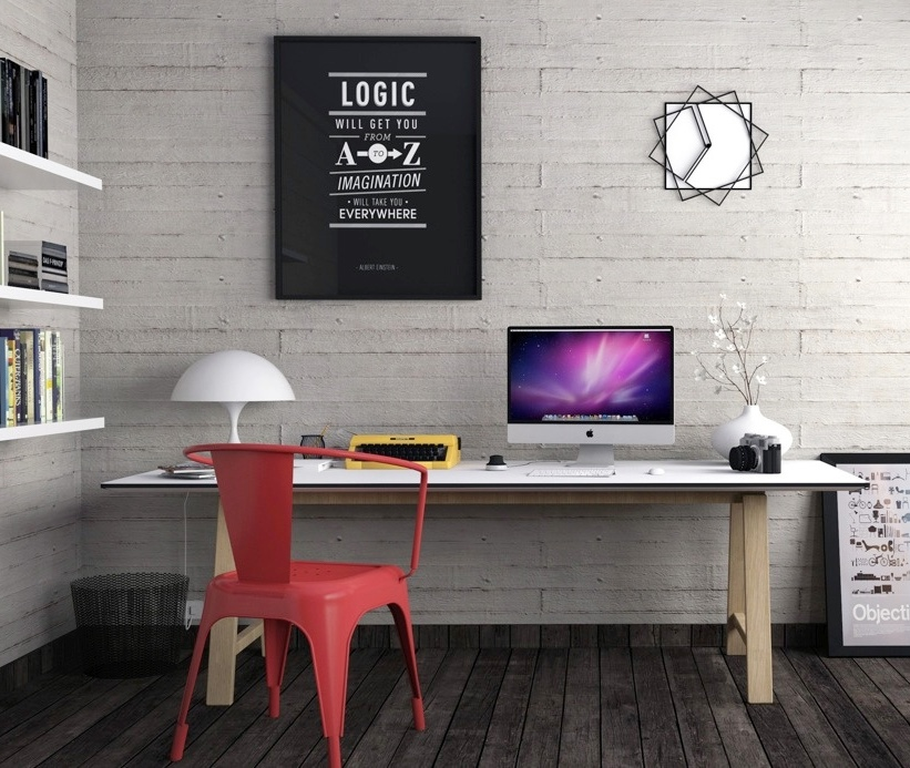red-industrial-coloured-desk-chairs