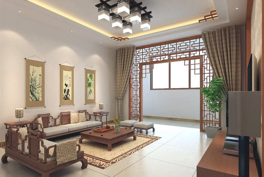 Retro And Modern Living Room Beauteous Chinese Living Room for Chinese Living Room Decor