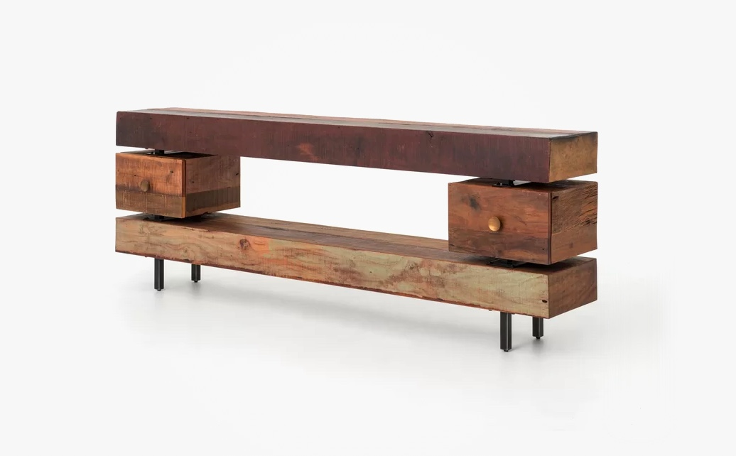 rustic-console-table-with-luxury-mixed-wood-acacia-and-peroba-with-two-drawers