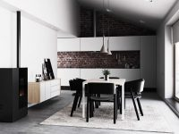 scandinavian-dining-room-exposed-brick-panel
