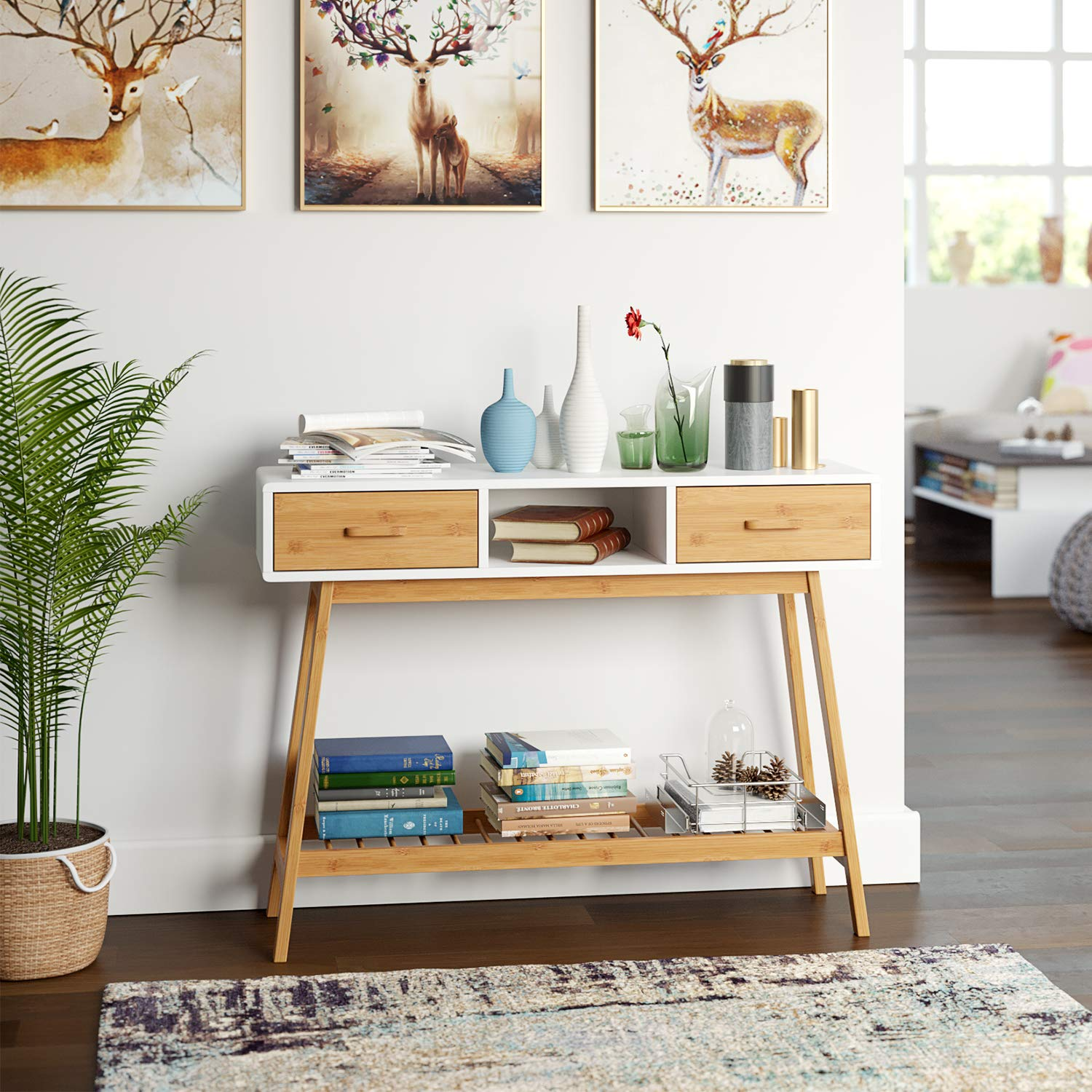 scandinavian-entryway-console-table-with-storage-and-drawers-in-wood-and-white