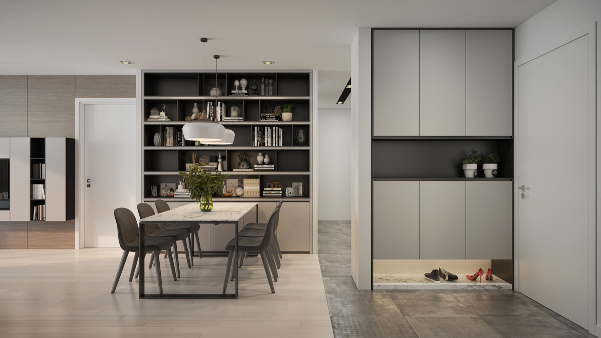 shades-of-grey-bookcase-dining-area