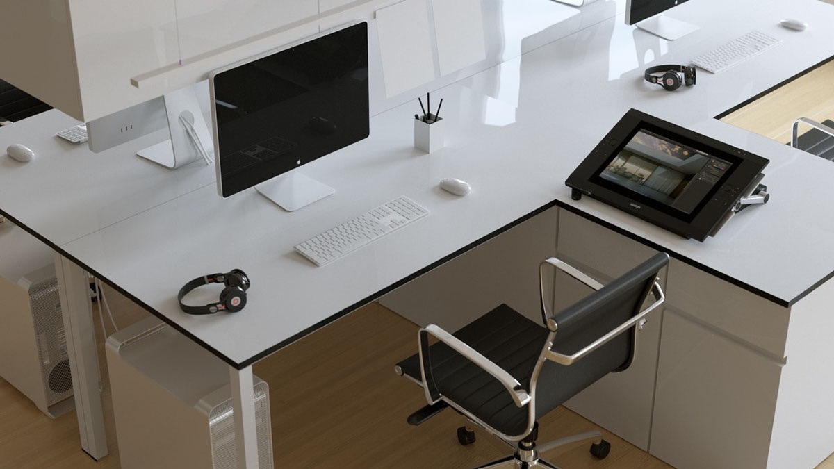 simple-minimalist-home-office-design-white-desk