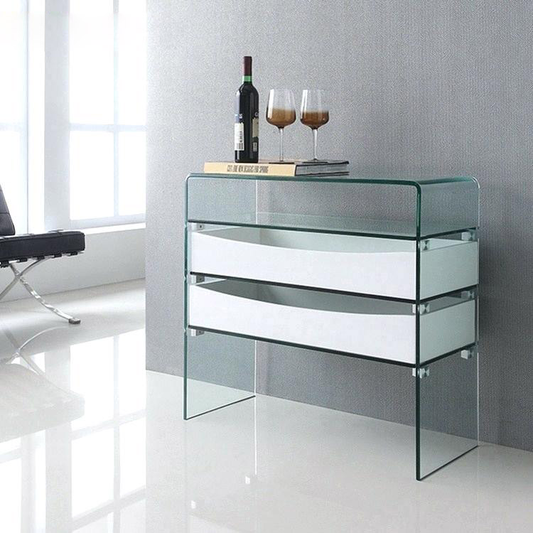 simple-modern-glass-console-table-with-waterfall-sides-and-white-drawers