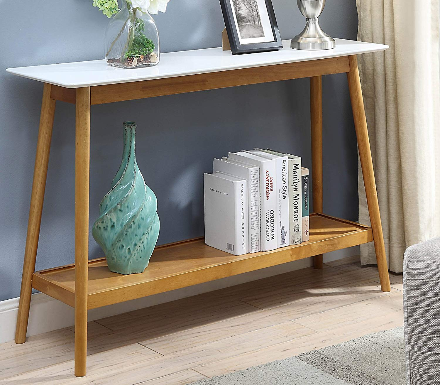 simple-wood-and-white-console-table-for-sale
