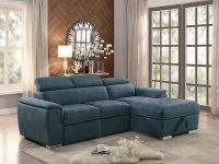 sleeper-sofa-sectional-casual-design-with-steel-blue-upholstery-and-adjustable-headrests