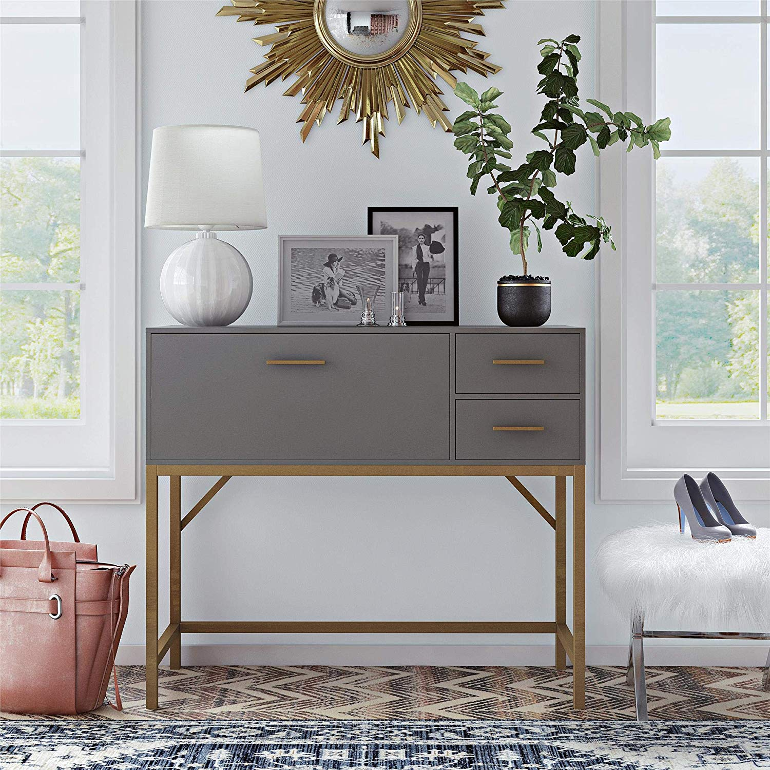 small-console-table-with-drop-leaf-writing-desk-and-drawers