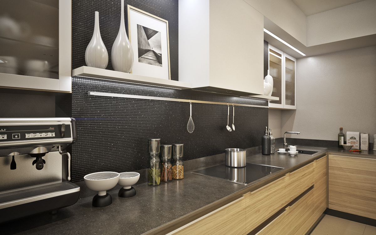 sparkling-black-backsplash