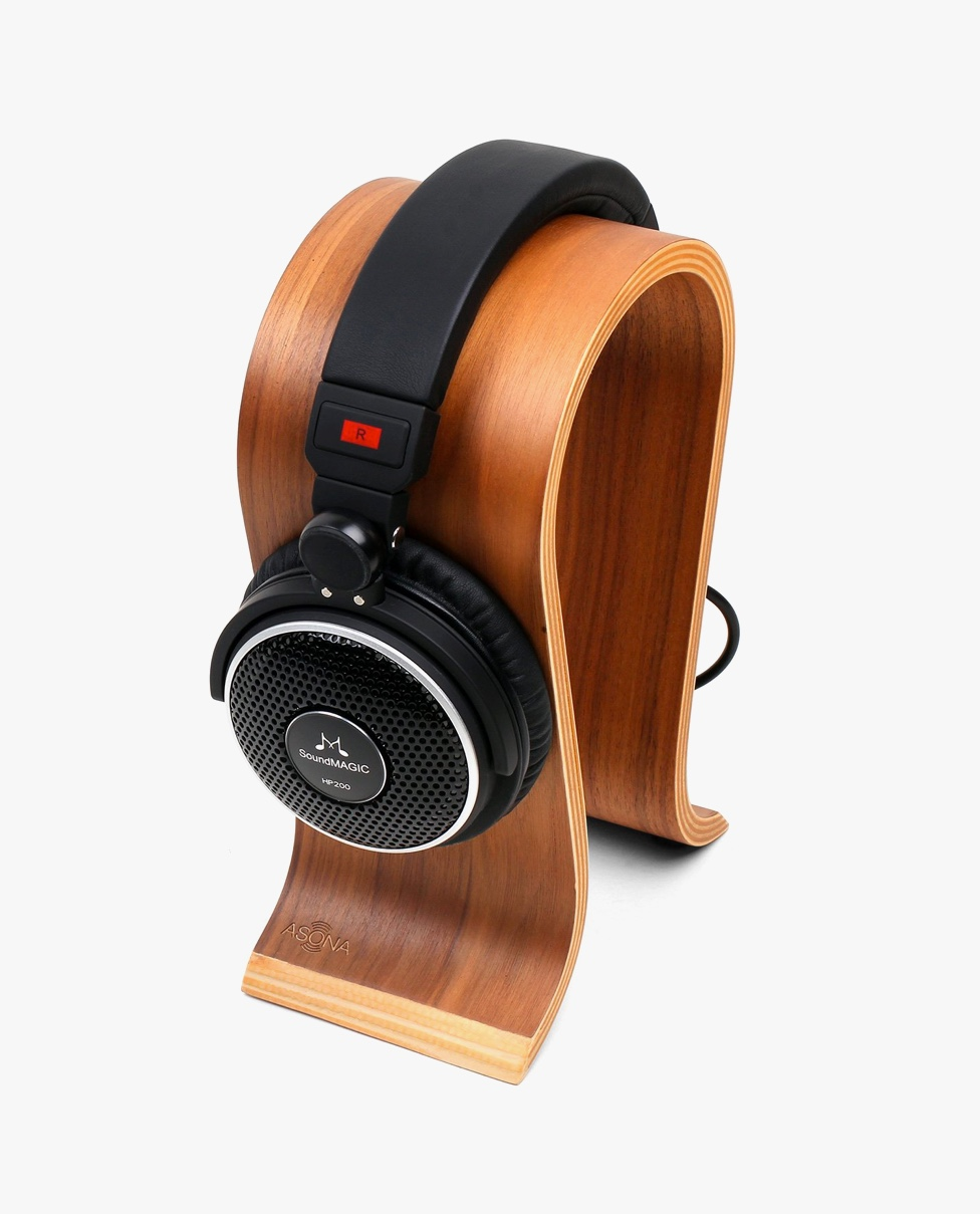 stylish-headphone-stand-gift-for-architecture-enthusiast-wood
