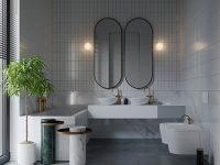 Modern Grey Dan White Bathrooms