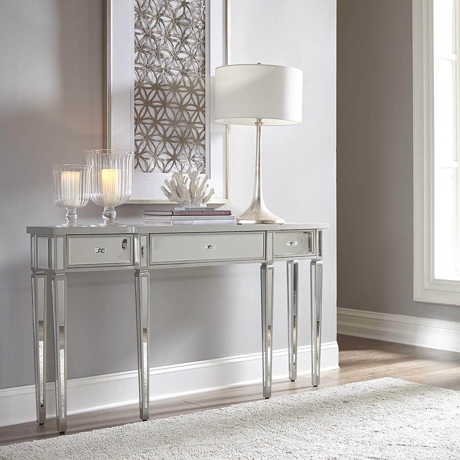 traditional-mirrored-console-table-glamorous-design-with-drawers-and-crystal-handles