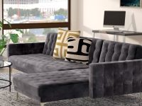 tufted-grey-velvet-sectional-sleeper-sofa-convertible-design-with-chaise
