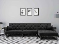 unique-cheap-sectional-sleeper-sofa-with-diamond-tufting-black-upholstery
