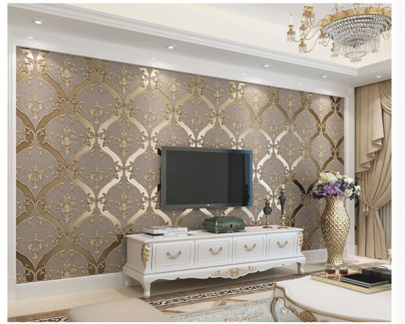 Us 38 58 39 Off Beibehang European Classic Personality Faux Leather 3d Wallpaper Bedroom Living Room Dining Background Wall Papers Home Decor In Throughout New Wallpaper Decoration For Living Room Awesome Decors